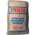 Клей для ячеистых блоков 30кг Praktik
