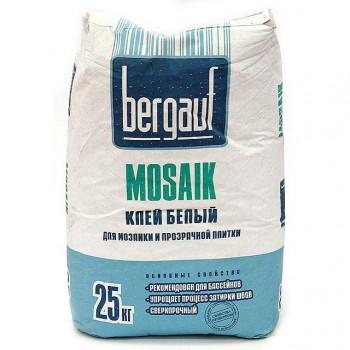 Клей белый для мозайки и прозрачной плитки Mosaik  25кг