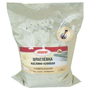 Шпатлевка масляно-клеевая 20 кг прозр.мешок