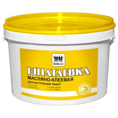 Шпатлевка масляно-клеевая «Бригада» 5кг