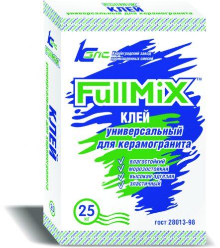 Клей для кафельной и керамической плитки для внутренних работ FullMIX, 25 кг