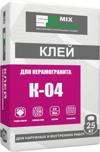 Клей для керамогранита SZ-MIX, 25кг