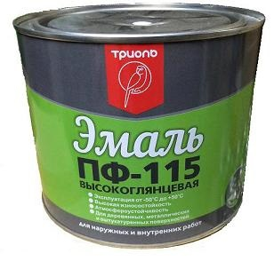 Эмаль ПФ-115 черная «ТРИОЛЬ» 0,8кг