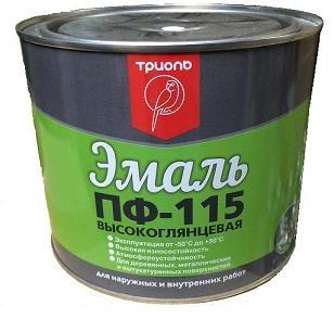 Эмаль ПФ-115  ярко-зеленая «ТРИОЛЬ»50кг