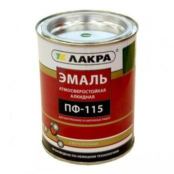 Эмаль ПФ-115 «Лакра» 1кг красная