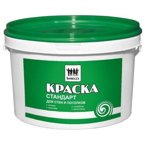 Краска «Бригада» для стен и потолков Стандарт 14 кг