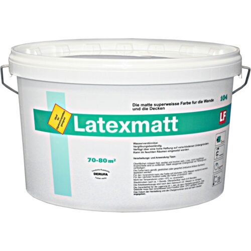 Краска  для стен и потолков супербелая LATEXMATT  10л