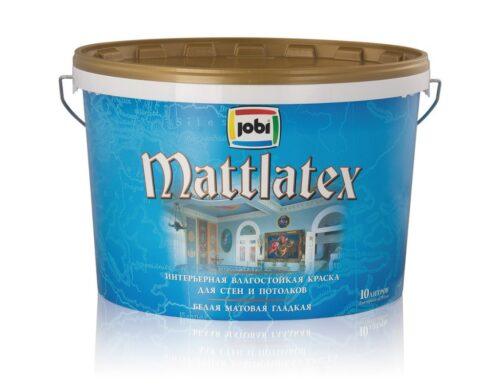 Краска влагостойкая для стен и потолков MATTLATEX  10л