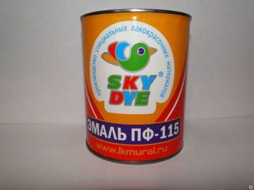 Эмаль ПФ-115 желтая 0,9 кг Sky Dye (Скай Дай)