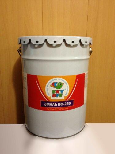 Эмаль ПФ-266  желто-коричневая 30 кг Sky Dye (Скай Дай)