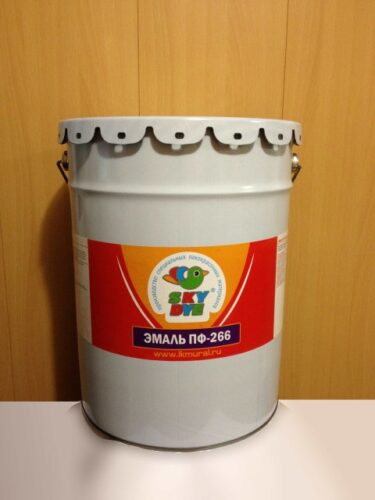 Эмаль ПФ-266  коричневая 50 кг Sky Dye (Скай Дай)