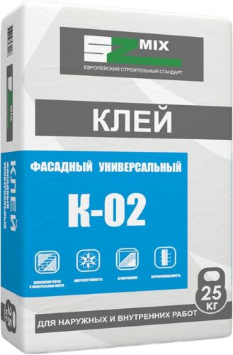 Клей универсальный фасадный SZ-K02 для утеплителя и армирования 25 кг