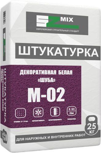 Штукатурка декоративная белая «Шуба» SZ-MO2 зерно 1,5-2,0мм 25 кг