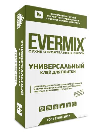 Клей для плитки Универсальный Evermix 25 кг