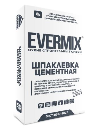 Шпатлевка цементная Evermix 25 кг