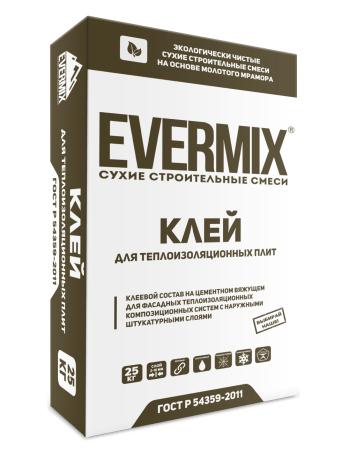 Клей для теплоизоляционных плит Evermix 25 кг
