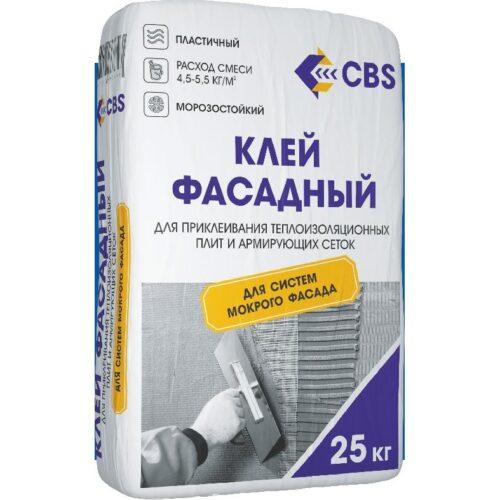 Клей CBS «Фасадный» для систем фасадного утепления, 25 кг