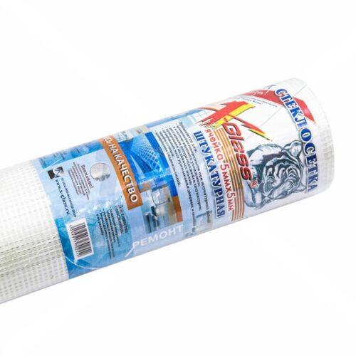 Сетка стеклотканевая штукатурная 5мм*5мм 1м*20м (рул) 75г/м2